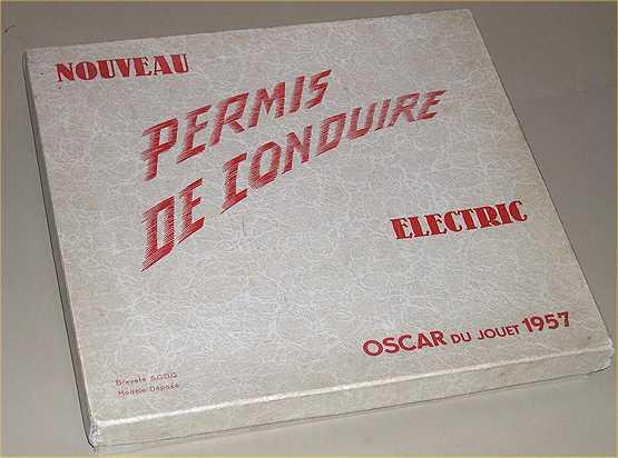 permis de conduire oscar du jouet en 1957 un jeu electric ebay. Black Bedroom Furniture Sets. Home Design Ideas